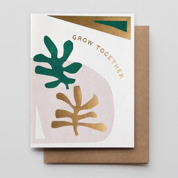 grow together gold foil card