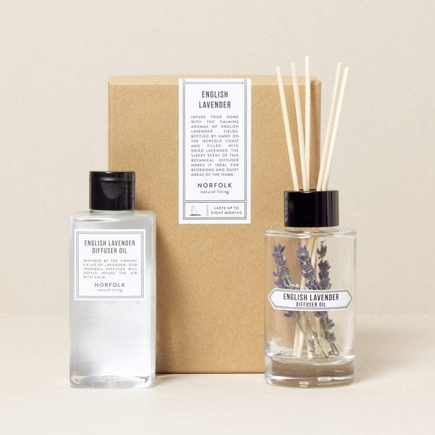 natural diffusers - rose garden, sea salt, english lavender