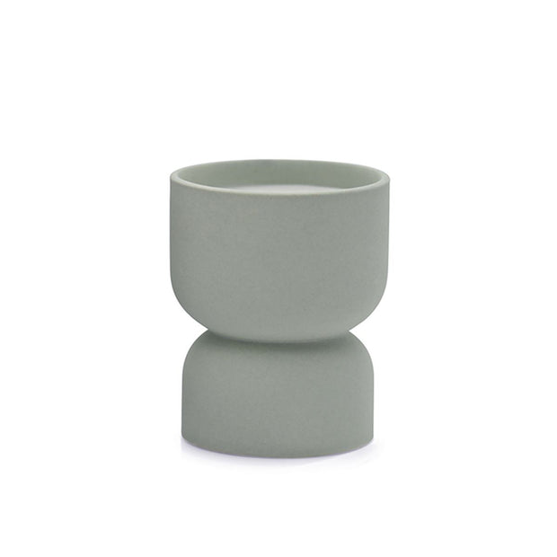 matte 6 oz hourglass textured ceramic candles