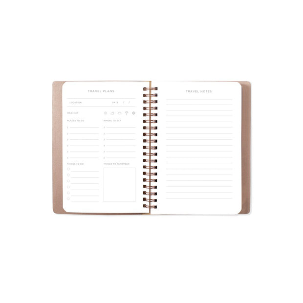 circle grid olive travel notebook