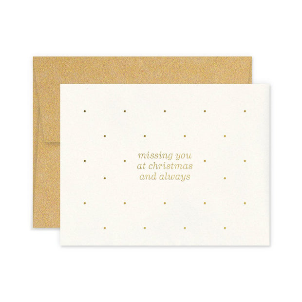 miss you christmas and always cards - set of 6