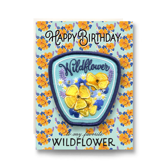 wildflower birthday patch card