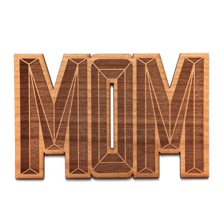 wooden mom shape card