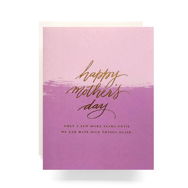 have nice things again mother's day card