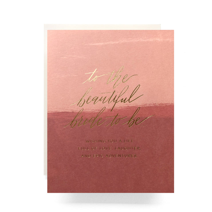 blush beautiful bride to be card