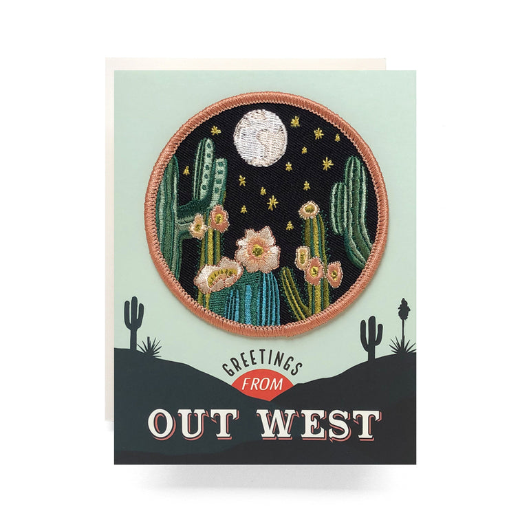 greetings from out west patch card