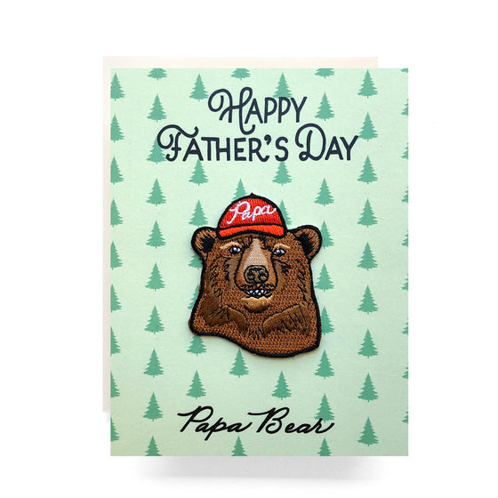 papa bear father's day patch card