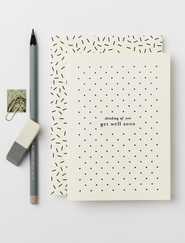 get well polka dot card