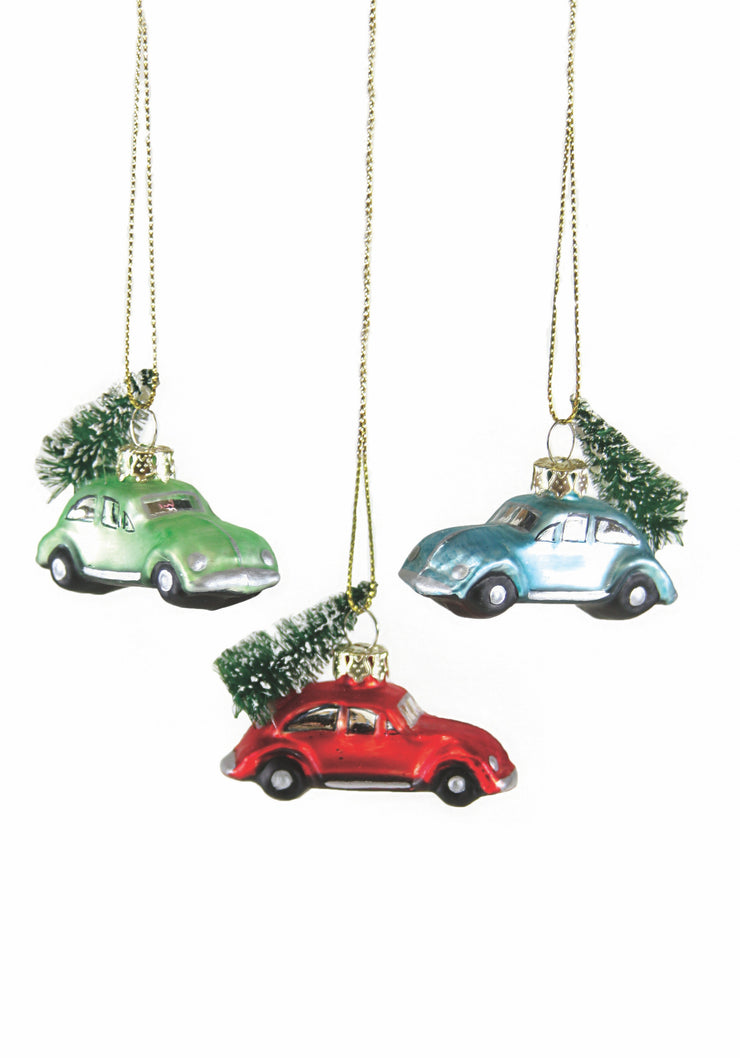 tiny car ornaments - assorted colors