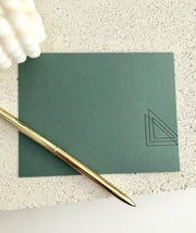 design (triangle) letterpress stationery - set of 6