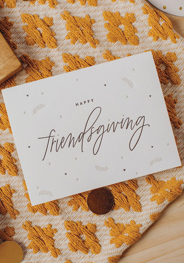 friendsgiving letterpress card