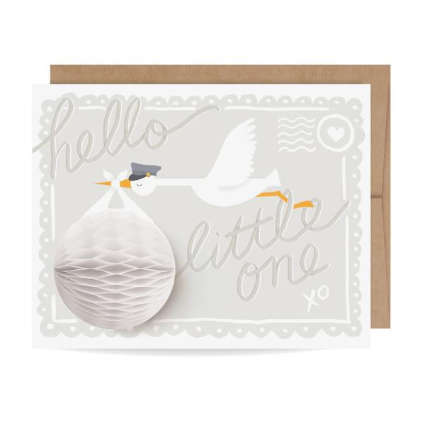 baby stork 3d pop-up card