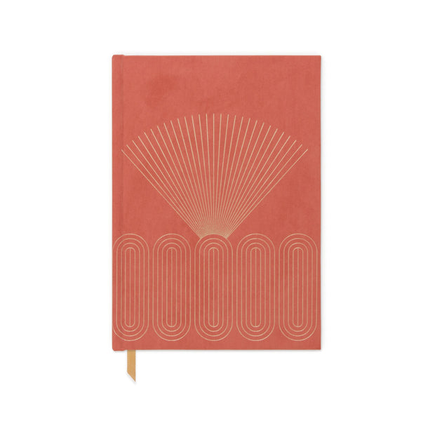 hardcover suede-cloth journals