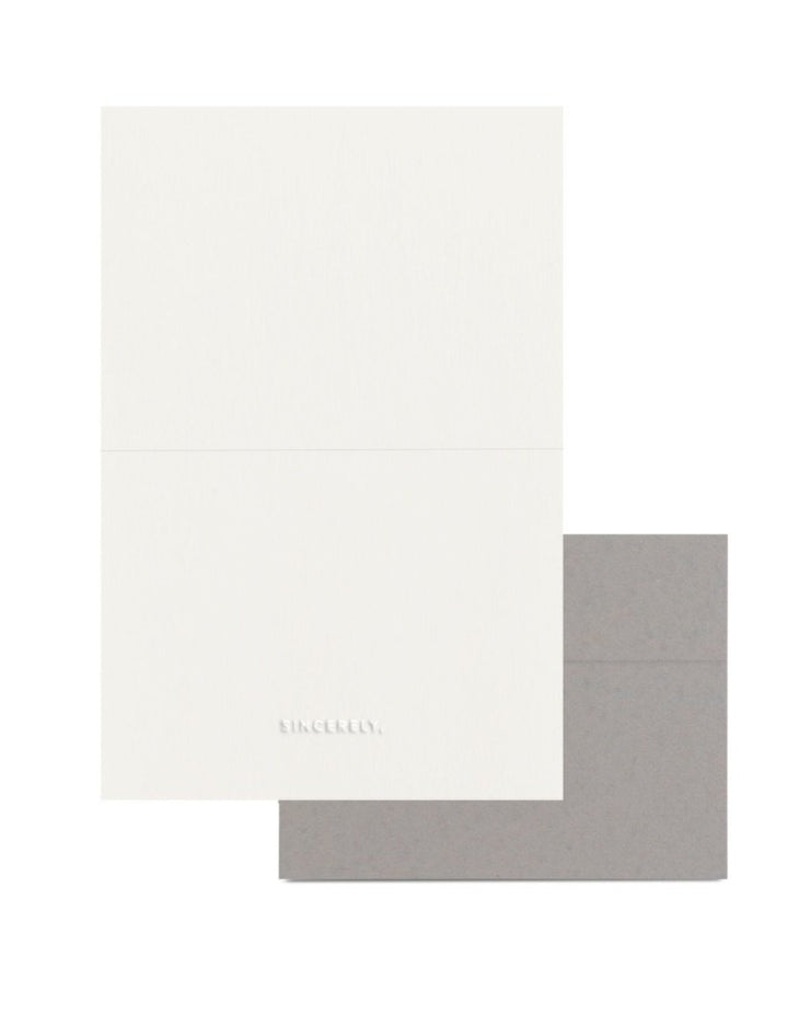 sincerely embossed letterhead set