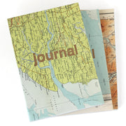 sukie vintage map journal gold type