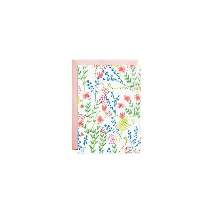 countryside wildflowers petite enclosure card