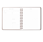 moon faux leather undated daily planner