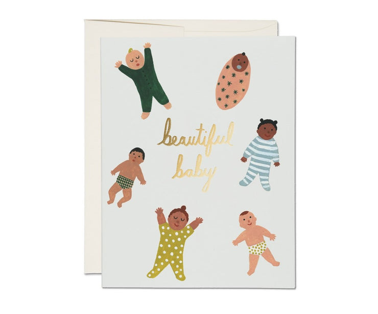 beautiful baby gold foil card