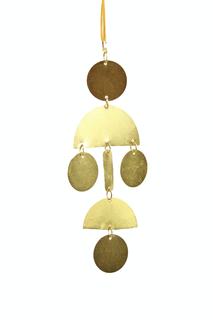 hinged shapes gold ornament