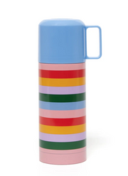 stainless steel thermal mug with cup rainbow