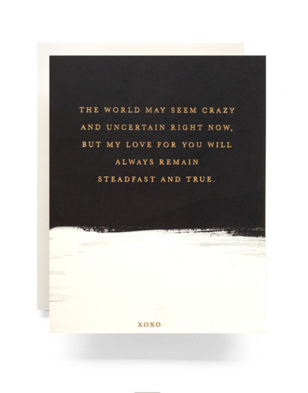 brushed steadfast love card
