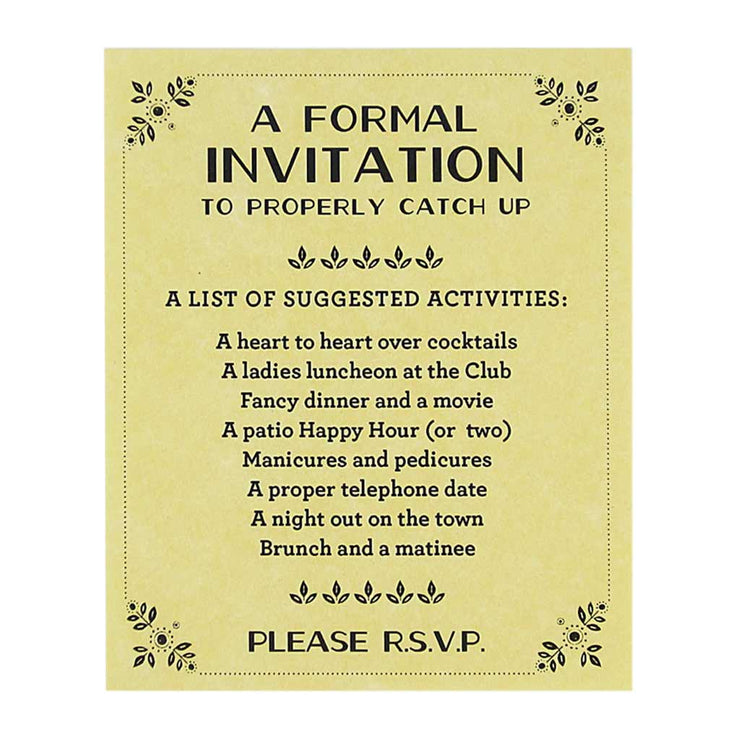 invitation friendship card