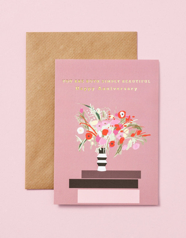 you are both simply beautiful anniversary card