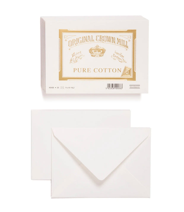 original crown mill pure cotton envelopes 4.5 x 6.25 - 25pk