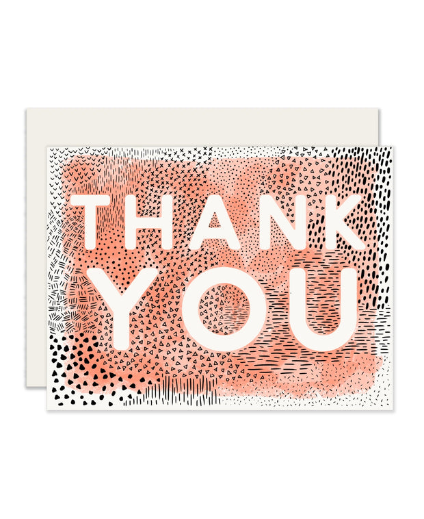 abstract thank you cards - set of 6