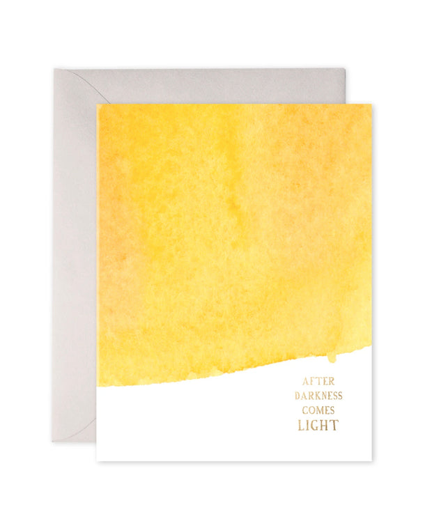after darkness comes light card