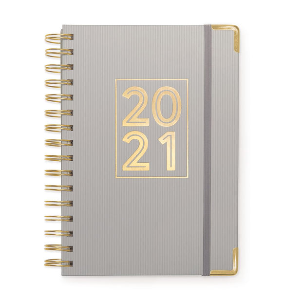 2021 block - 12 month hardcover twin wire monthly planner