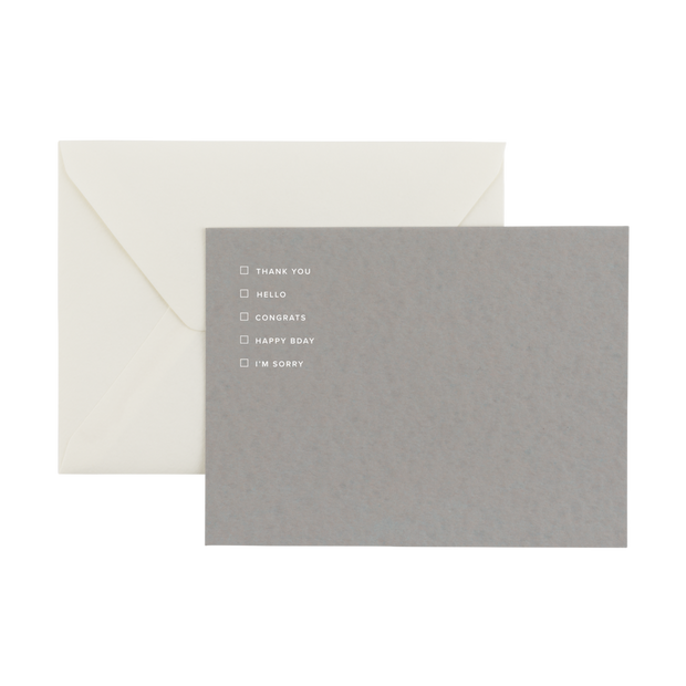 multiple-occasion notecard greeting set
