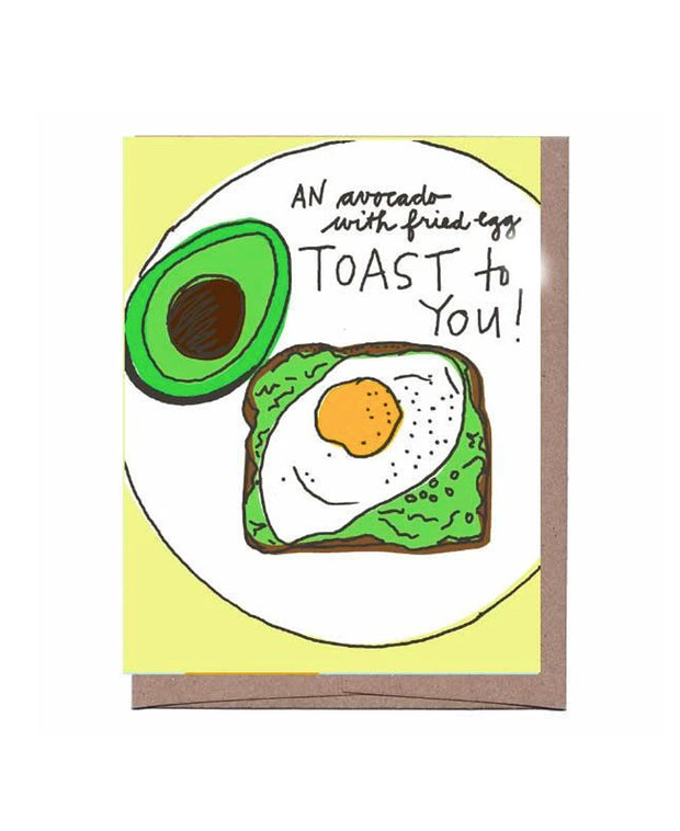 avocado toast to you congrats card