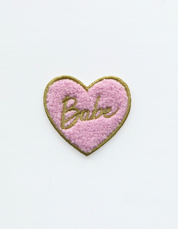 babe heart chenille patch