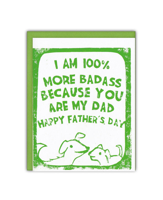 badass puppies father's day card