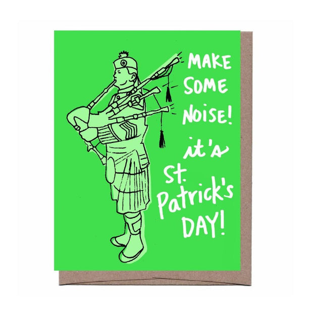 bagpiper st. patrick's day card