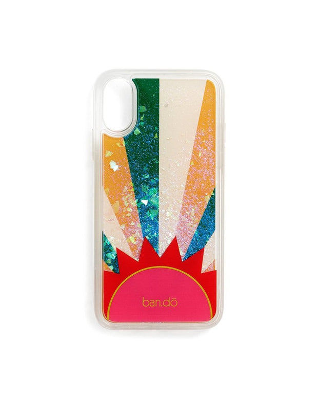 iphone case glitter bomb sunburst -  x/xs and xr sizes