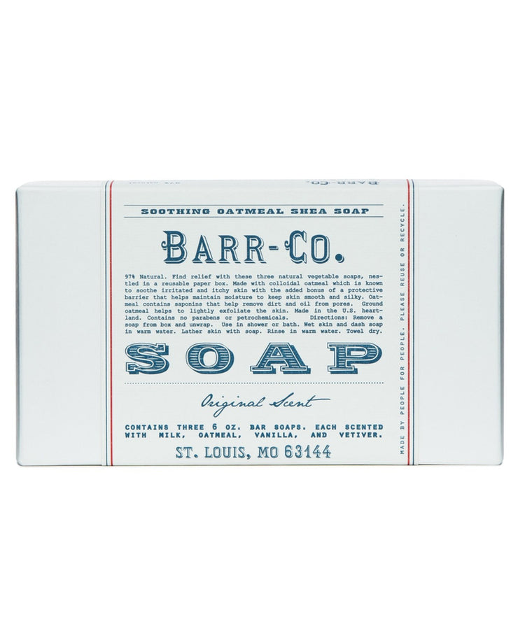 barr-co original scent 3pc bar soap gift set