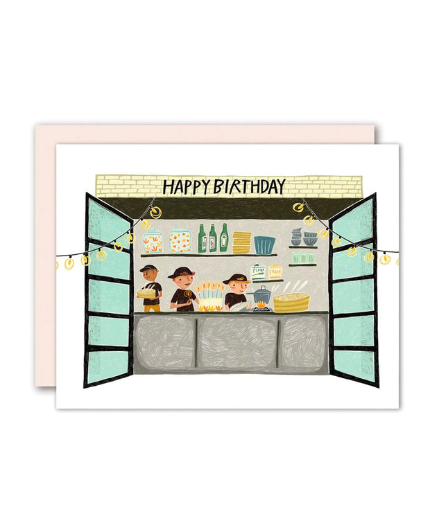 kitchen birthday card