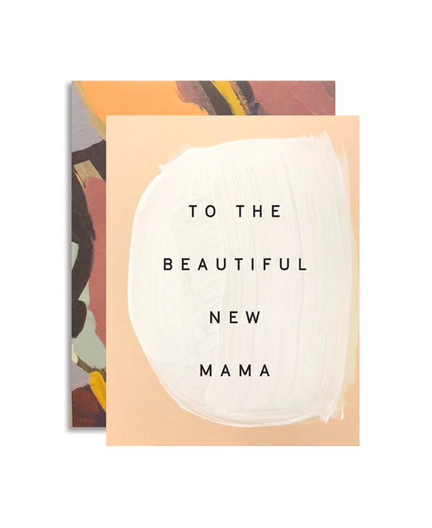 beautiful new mama hand-painted card