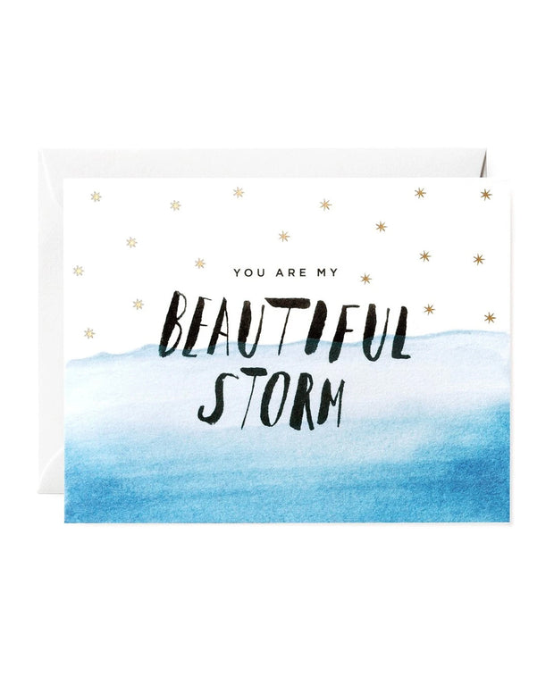 you are my beautiful storm card