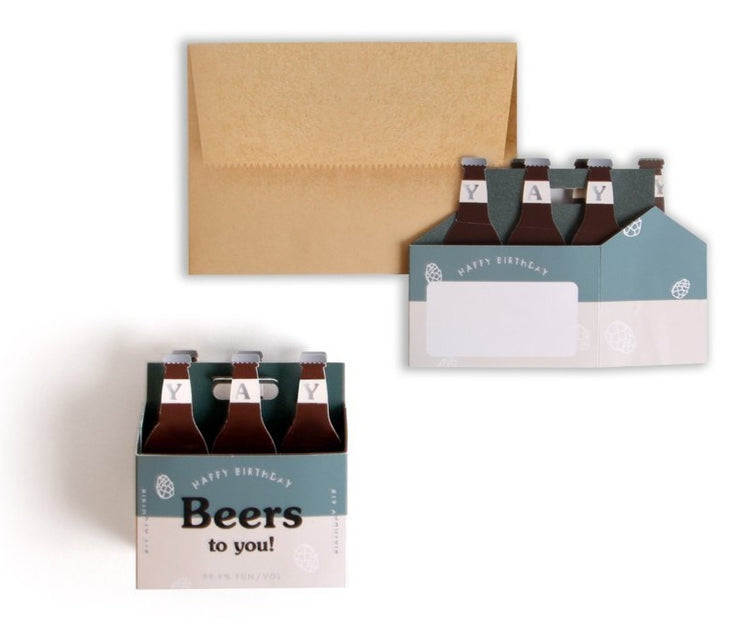 happy birthday beers to you pop-up card
