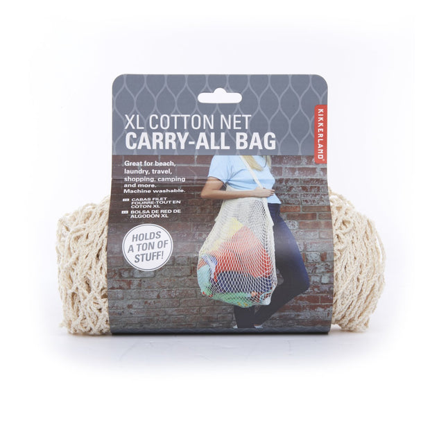 beige XL cotton net carry-all bag