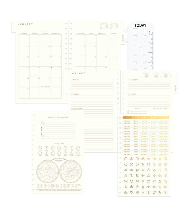 vintage style 2021 hardcover twin wire monthly planner