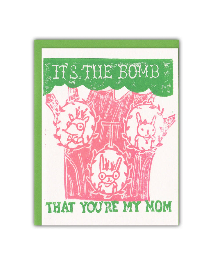 family tree bomb you're my mom card