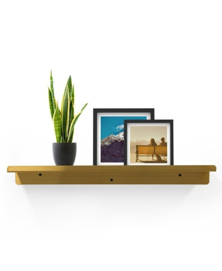 24'' brass slim display shelf