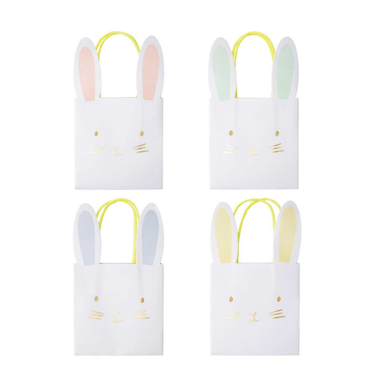 bunny party bags - set of 8