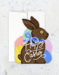 bunny die-cut easter card