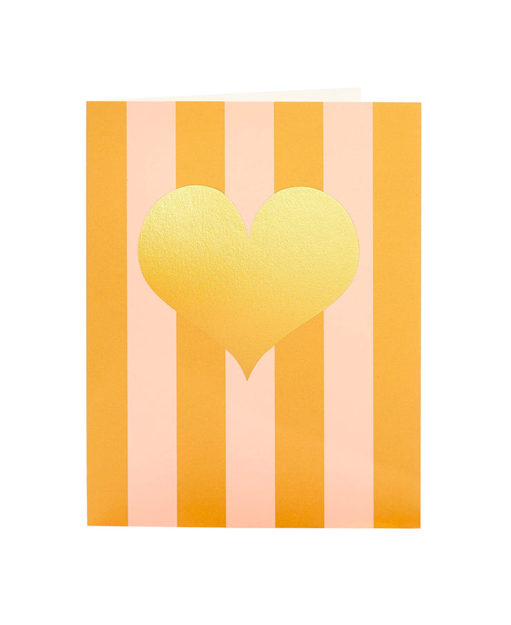 cabana hearts gold foil card