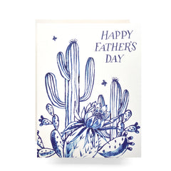 cactus garden father's day card